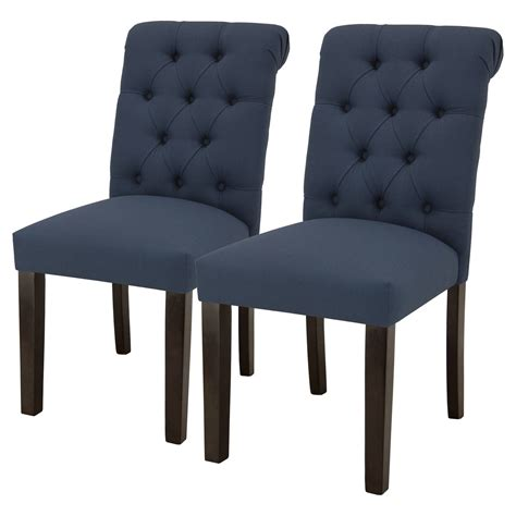 sterling tufted rolled back dining chair set of 2