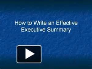 ppt how to write an effective executive summary