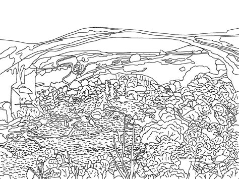 printable coloring pages landscapes landscape coloring pages to and print for free