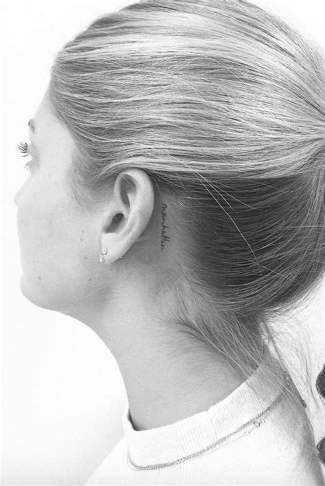 small tattoos for behind the ear pictures 40 tiny ideas even the most needle can t resist