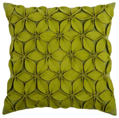 Lime Green Throw Pillows by Rizzy Home Decorative Pillow Lime Green