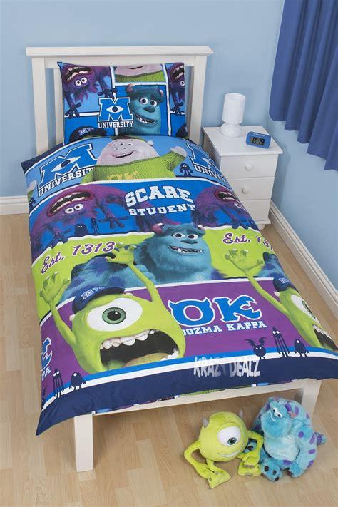 Monsters Inc Bedding Set Disney Monsters Inc Single Duvet Cover Bed Set Mike Sully Oozma Kappa Ebay