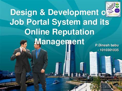 design online job portal design development of job portal system using joomla