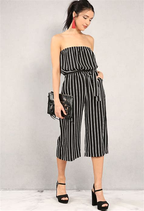 Jumpsuit Now 1 striped strapless jumpsuit shop new and now at papaya