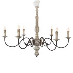 Grey Chandelier Avignon Country Weathered Iron Scroll Chandelier
