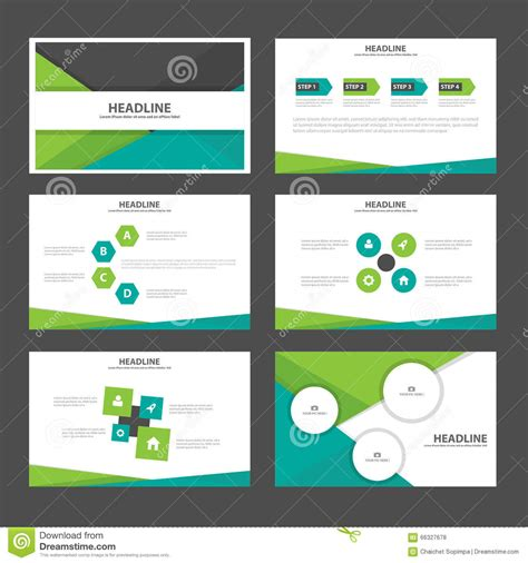 flat design keynote template abstract green black presentation templates infographic