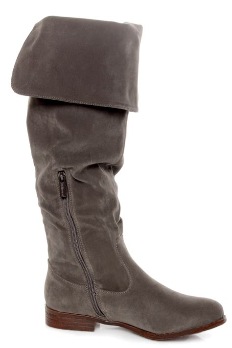 taupe the knee suede boots dollhouse moscow taupe suede the knee boots 60 00