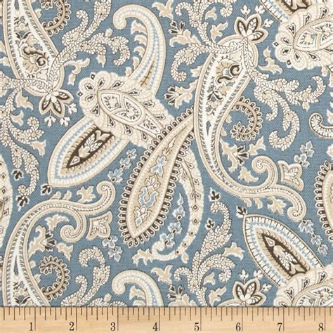 Blue Paisley Upholstery Fabric by Covington Ballard Paisley Blue Discount Designer Fabric