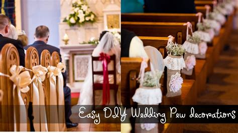 Diy Home Decor On A Budget by Easy Diy Wedding Pew Decorations Youtube