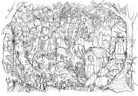 Moncoloriageelle La Jungle Elle