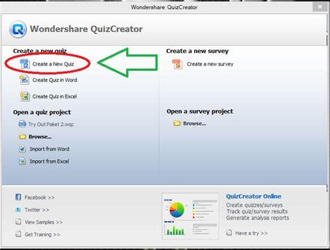 cara membuat quiz online cara membuat soal dengan aplikasi quiz creator