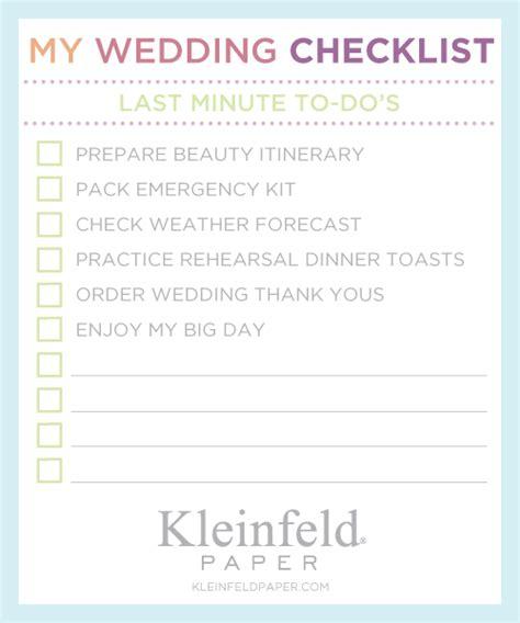 Wedding Last by Wedding Planner Last Minute Wedding Checklist