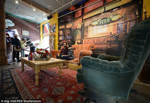 friends orange couch central perk from the tv show friends is set to pop up in