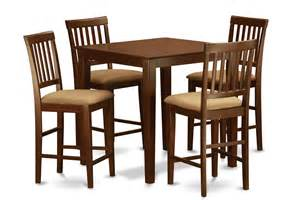 Counter Height Dining Table And Chairs 5 Counter Height Dining Set Pub Table And 4 Dinette Chairs