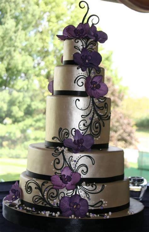 Purple.Silver.&.Black.Wedding.Cake?   CAKE ART   Pinterest