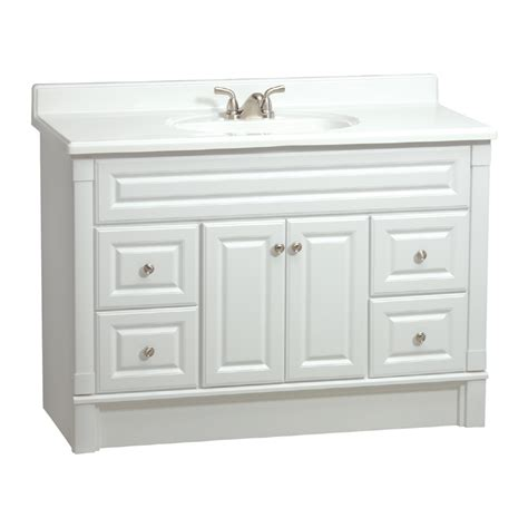 Lowes White Bathroom Vanity by Shop Estate By Rsi Southport White Casual Bathroom Vanity