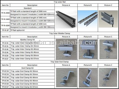 Solar Panels In Dina - aluminum frame rails for solar pv buy aluminum frame