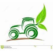 Logo De Tracteur &233cologique Illustration Vecteur