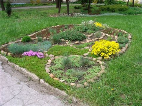 flower bed rocks rock flower bed borders for your stunning garden design
