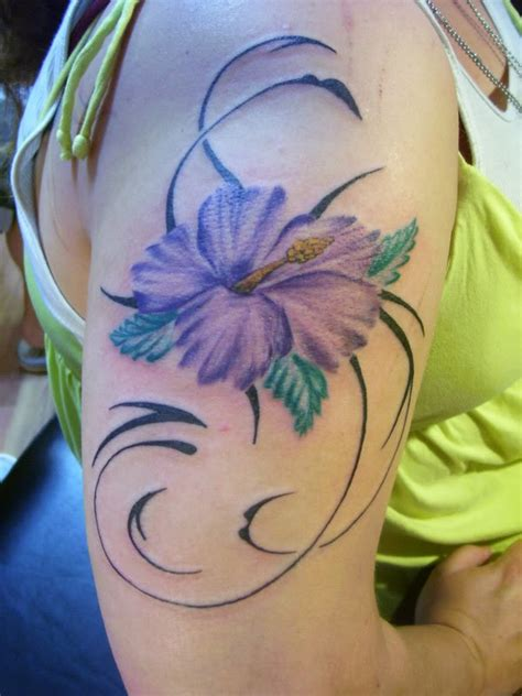tribal hibiscus flower tattoo designs tribal flower tattoos