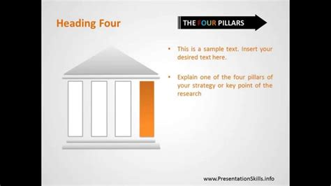 The Four Pillars Strategy Free Powerpoint Template Slides Youtube Strategic Pillars Template