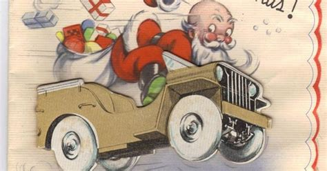 christmas jeep card world war ii christmas card santa in the unstoppable ww2