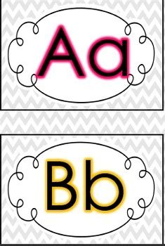 printable letters of the alphabet for word wall chevron word wall letters free by teaching s a hoot by