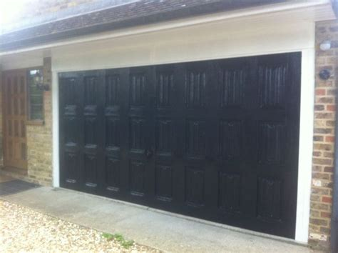 17 best ideas about black garage doors on