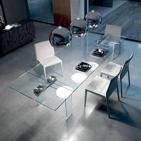 tavolo di cristallo allungabile tavolo allungabile in cristallo curvato azimut di cattelan