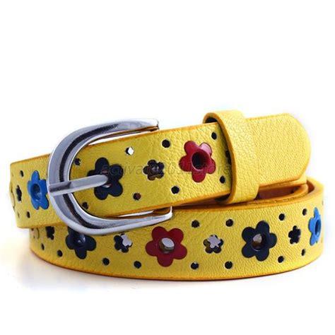 toddler belts baby toddler colorful flower belt alloy buckle leather