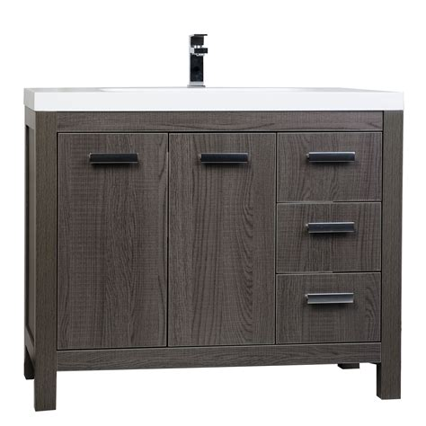 39 bathroom vanity buy 39 5 inch modern bathroom vanity in oak optional mirror rs l1000 oak conceptbaths com