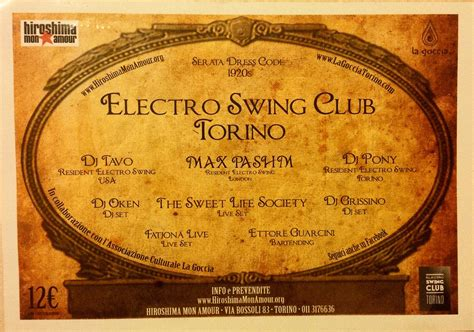 electro swing club london electro swing club torino dj grissino