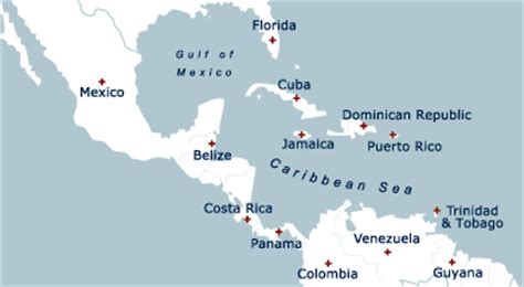 Map Of Cuba And Puerto Rico   MAP