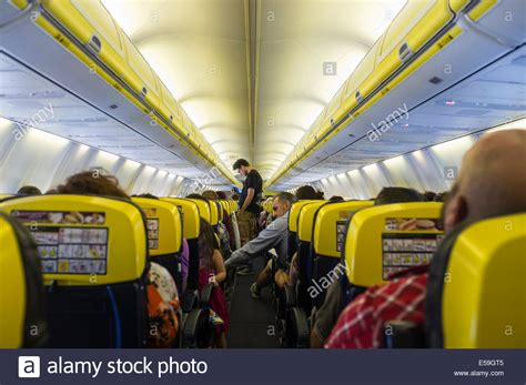 boeing 737 cabin ryanair boeing 737 800 cabin interior stock photo royalty