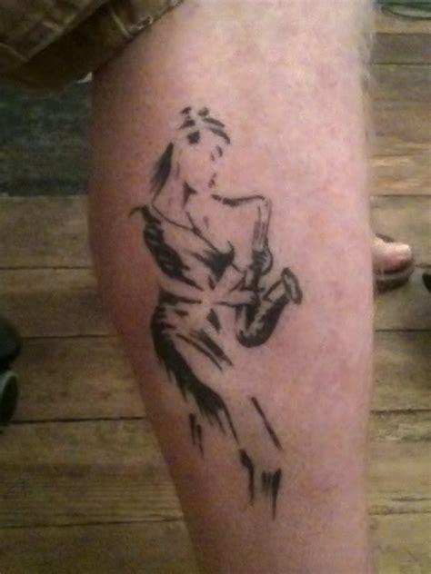 saxophone tattoo a saxophone mr blowout sax