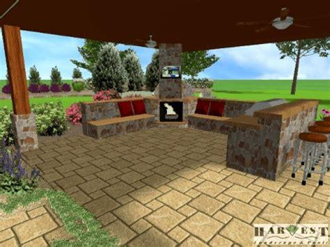 3d landscape design above ground pool