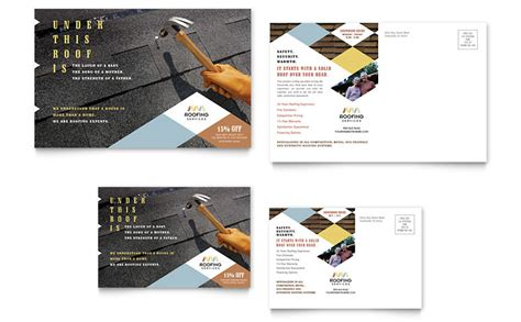 Roofing Contractor Postcard Template Word Publisher Roofing Templates Free