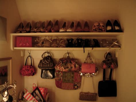 Gorgeous purse rack convention new york traditional closet decoration ideas with accessories