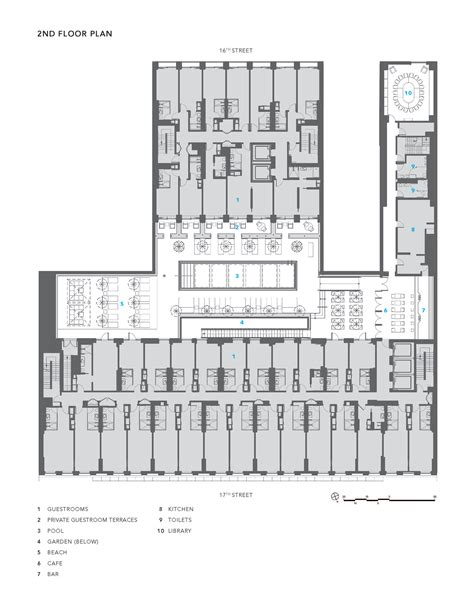 Floor Plan For Hotel gallery of dream downtown hotel handel architects 35