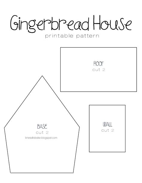 i knead to bake gingerbread recipe printable house template