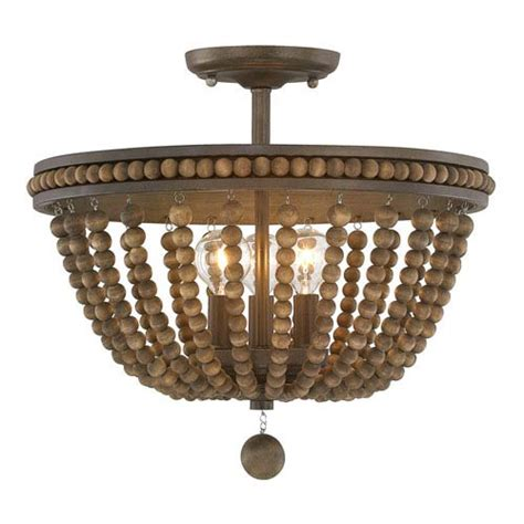 wood bead ceiling light bellacor traditional classics ceiling lights give your