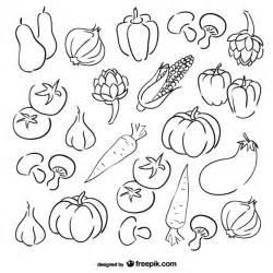 Vegetables sketch vegetables sketch set vector free download