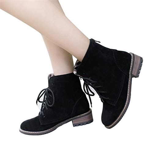 big shoes shop guoar women s low mid heel flats shoes bootie big size