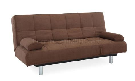 modern convertible sofa bed java microfiber modern convertible sofa bed w metal legs