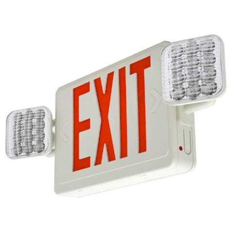 Lu Emergency Combo Bulb galleon lfi lights hardwired led combo exit sign