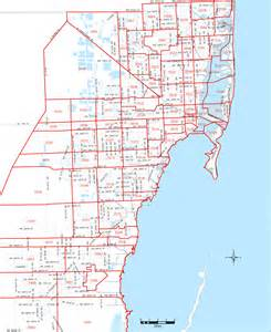 Miami Dade Map by Miami Dade Zip Codes Amereos Com