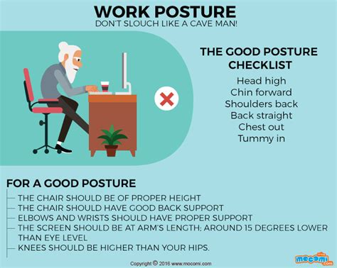 how to perform better at work improve your posture at work gifographic for mocomi
