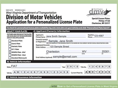 west virginia section 8 application how to get a personalized license plate in west virginia