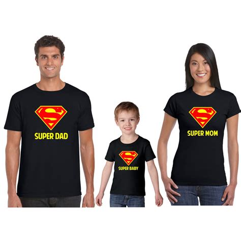 Personalized Super Hero Mom Dad Child Family T shirt   Giftsmate