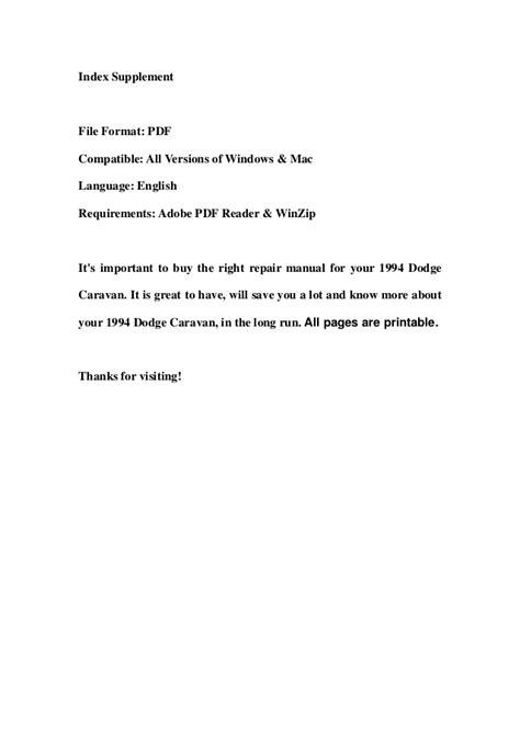 service repair manual free download 1994 dodge grand caravan seat position control 1994 dodge caravan service repair workshop manual download